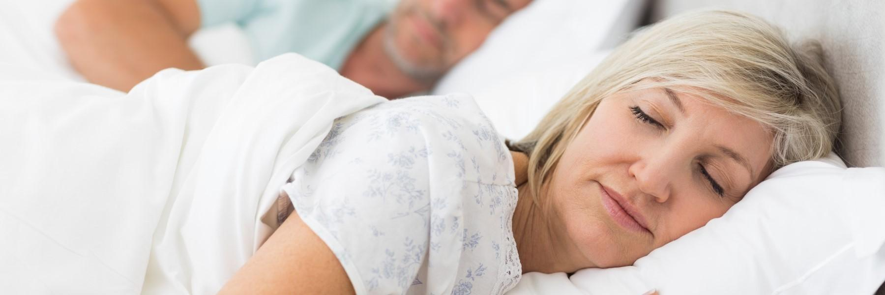 Woman sleeping peacefully | sleep apnea chagrin falls