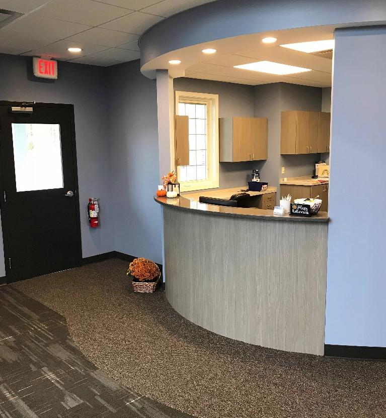 Reception Area of Chagrin Family Dental Care in Chagrin Falls, OH